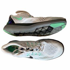 Nike Womens Size 11 Flex 2017 Run Lace-up Blue